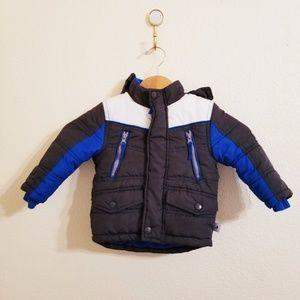 Toddler Boy 12 Mos Puffer Ski Snow Jacket Gray